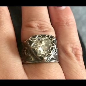 Sterling silver cubic size 7 ring